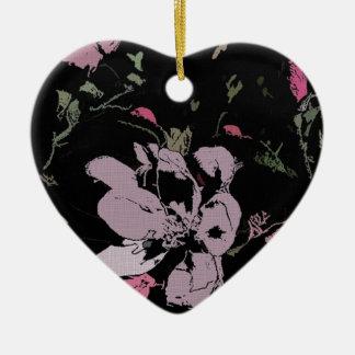Apple blühen in der Tinte Keramik Herz-Ornament