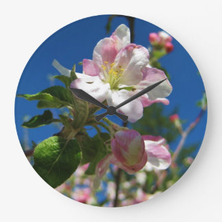 Apple blühen Wanduhr