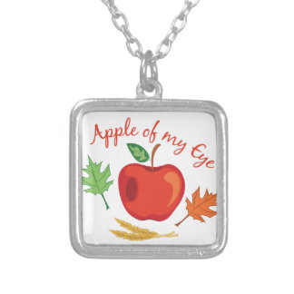 Apple des Auges Versilberte Kette
