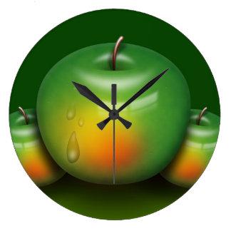 Apple ein Tag Große Wanduhr