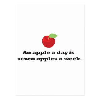 Apple ein Tag… ist 7 Äpfel eine Woche Postkarte