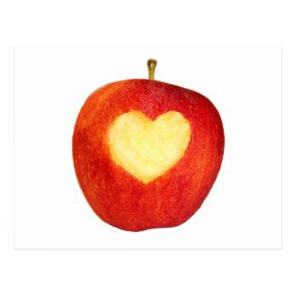 Apple-Herz-Postkarte Postkarte
