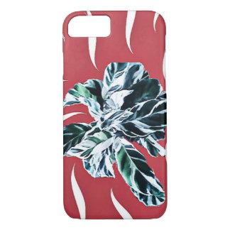 Apple iPhone 8/7, Pfau-Pflanze mit Rot iPhone 8/7 Hülle