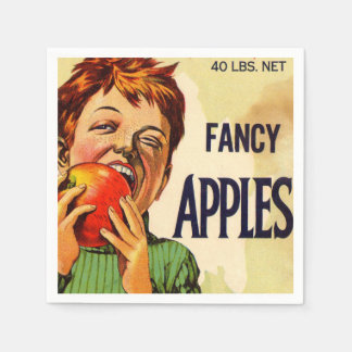 Apple-Jungen-Vintages Serviette