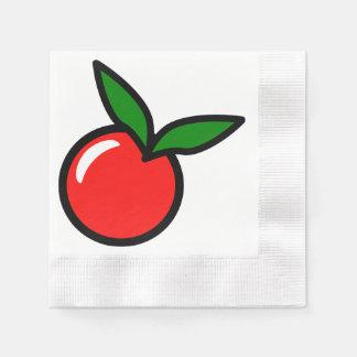 Apple-Kirschrot-Frucht-Cartoon Papierserviette