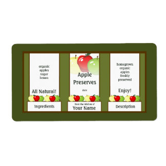 Apple-Konserven, die Glas-Aufkleber einmachen