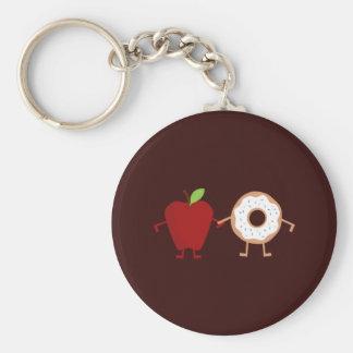 Apple-Krapfen Schlüsselanhänger