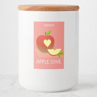 Apple-Liebe Lebensmitteletikett