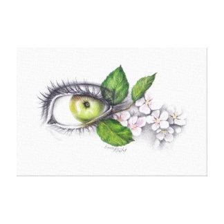 Apple meiner Auge Bleistiftkunst wickelte Leinwand Leinwanddrucke