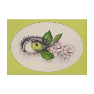 Apple meiner Surreal Kunst des Auges wickelte Leinwand Druck