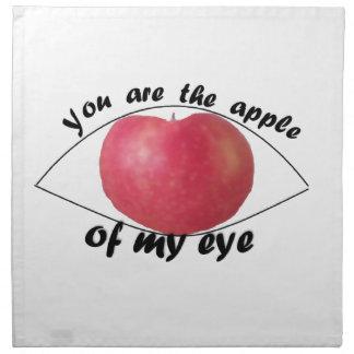 Apple meines Auges Stoffserviette