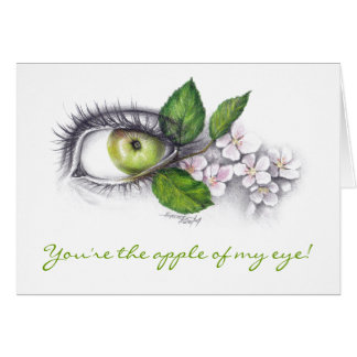 Apple meines Auges zeichnen Kunst Grußkarte an
