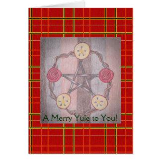 Apple-Scheibe-Pentagramm-Weihnachten-rotes Karte