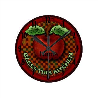 Apple segnen diese Küche Runde Wanduhr