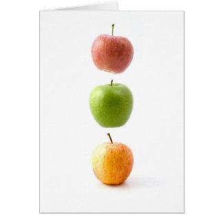 Apple setzen Zeit fest Grußkarte