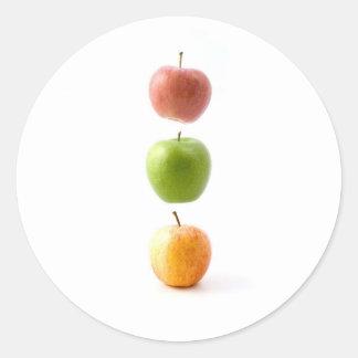 Apple setzen Zeit fest Runder Aufkleber