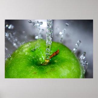 Apple spritzen Plakat