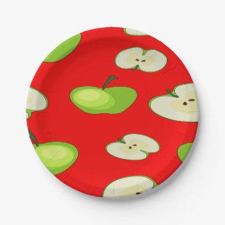Apple tragen Muster Früchte Pappteller