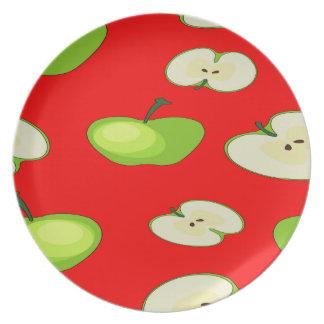 Apple tragen Muster Früchte Teller