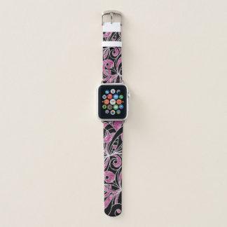 Apple-Uhrenarmband-Zeichnen mit Blumen Apple Watch Armband