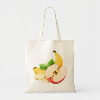 Apple und Banane Budget Stoffbeutel