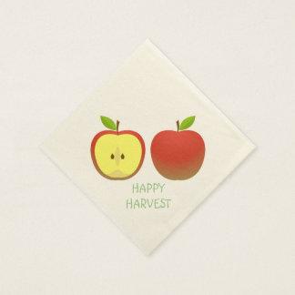 Apple und ein halbes Muster Papierserviette