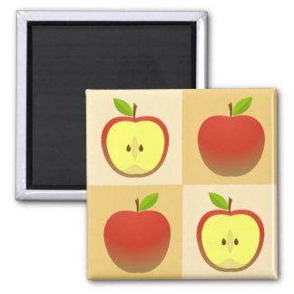Apple und eine Hälfte Quadratischer Magnet