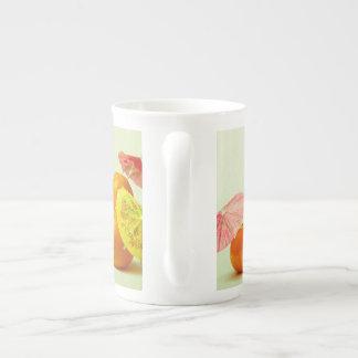 Apple und Mandarinen - exotisches Frucht-Panorama Porzellantasse