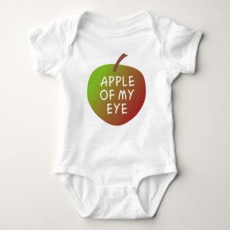 Apple von meinem Augen-Baby grünen und roten Baby Strampler