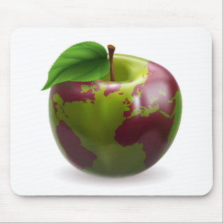 Apple-Weltkugel Mousepads