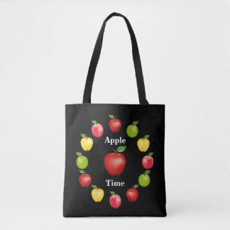 Apple-Zeit, köstlich, Oma-Smith, rosa Vielzahl Tasche