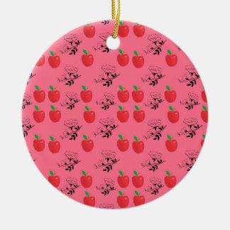 applePattern Rundes Keramik Ornament