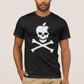 Appleschädel u. -gekreuzte Knochen T-Shirt