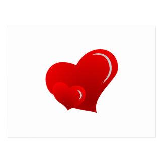 Applique-Herzen Postkarten