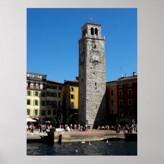 Apponale Tower Riva Del Garda Italien Poster