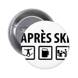 apres Ski Anstecknadelbuttons