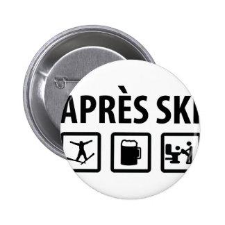 apres Ski Runder Button 5,7 Cm