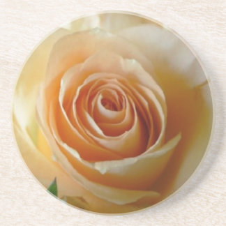 Aprikose farbige Rose Getränkeuntersetzer