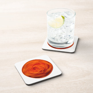 Aprikose/orangefarbene Rose Getränkeuntersetzer