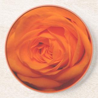 Aprikose/orangefarbener Rosen-Untersetzer Sandstein Untersetzer