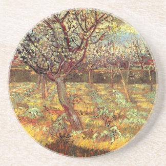 Aprikosen-Bäume in der Blüte durch Van Gogh Sandstein Untersetzer