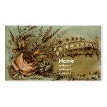 Aprikosen-Rose u. Lilie des Tales viktorianisch Visitenkarten Vorlage