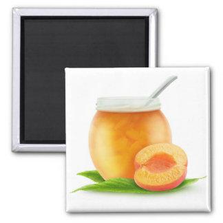 Aprikosenmarmelade Quadratischer Magnet