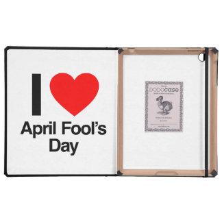 April-Dummkopfs der Liebe I der Tag iPad Etuis