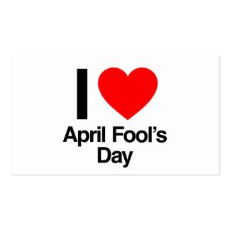 April-Dummkopfs der Liebe I der Tag Visitenkarten