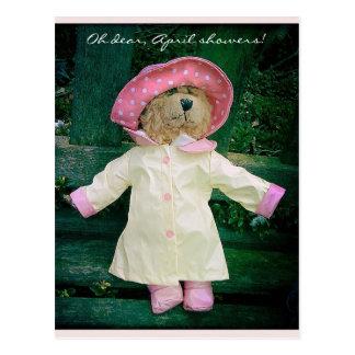 April-Duschen Postkarte