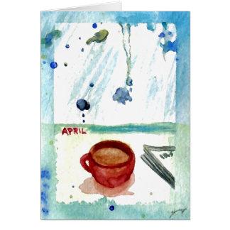 April-Kaffee - Monats-u. Karte