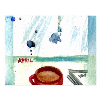 April-Kaffee - Monats-u. Postkarte