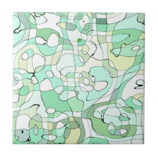 Aqua abstrakt keramikfliese
