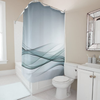 Aqua-abstrakter Duschvorhang